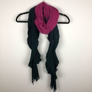 Betsey Johnson black and pink ombré swirl scarf